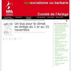 Un bus pour le climat en Ariège du 1 er au 15 novembre