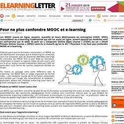 Pour ne plus confondre MOOC et e-learning