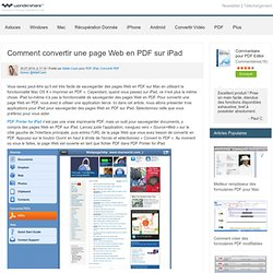 Top 3 App pour convertir page web au format PDF sur l'iPad