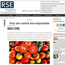 Pour une cuisine éco-responsable