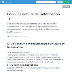 Pour une culture de l'information -1- · EMontel