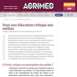 Pour une éducation critique aux médias