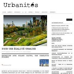Pour une égalité urbaine