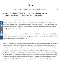 """Pour en finir avec """"le"""" transmédia - FBRQFBRQ"""