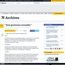 """ Pour gouverner ensemble """
