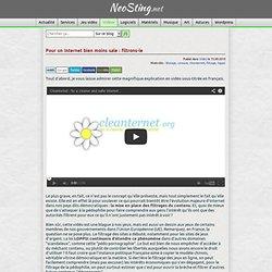Pour un Internet bien moins sale : filtrons-le | NeoSting