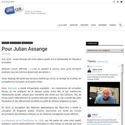 Pour Julian Assange