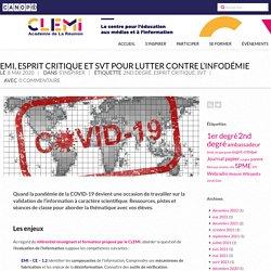 EMI et SVT pour lutter contre l'infodémie – CLEMI La Réunion
