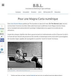 Pour une Magna Carta numérique