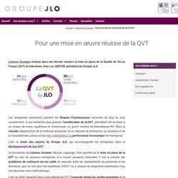 11c2016 Pour une mise en œuvre réussie de la QVT - Groupe JLO