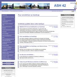 Pour sensibiliser au handicap - ASH 42
