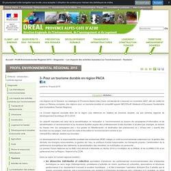 3- Pour un tourisme durable en région PACA