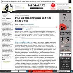 Pour un plan d'urgence en Seine-Saint-Denis