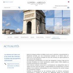 Refonte du Code civil et droit des contrats - Pourparlers contractuelsLoyer Abello