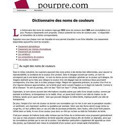 Dictionnaire des noms de couleurs