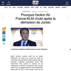Pourquoi l'action Air France-KLM chute après la démission de Juniac