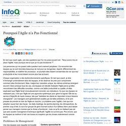Pourquoi l'Agile n'a Pas Fonctionné