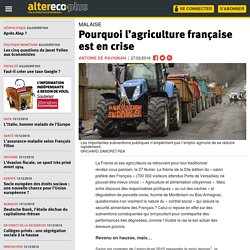 Pourquoi l'agriculture française est en crise