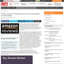 Pourquoi Amazon ne supporte plus les faux...