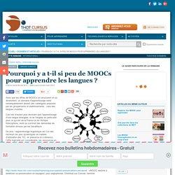 Pourquoi y a t-il si peu de MOOCs pour apprendre les langues