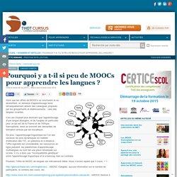 Pourquoi y a t-il si peu de MOOCs pour apprendre les langues ?