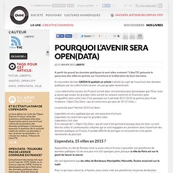 Pourquoi l'avenir sera open(data) » Article » OWNI, Digital Journalism