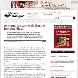 Pourquoi les ventes de disques baissent-elles ?, par Laurent Chemla (Le Monde diplomatique)-Mozilla Firefox