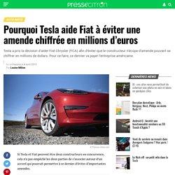 Pourquoi Tesla aide Fiat à éviter une amende chiffrée en millions d'euros