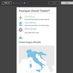 Pourquoi choisir l'italien?