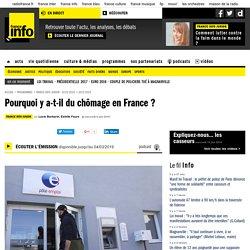 Pourquoi y a-t-il du chômage en France ?