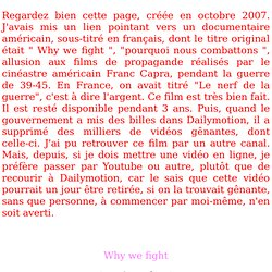 """Le film """" Pourquoi nous combattons """": à voir absolument"""