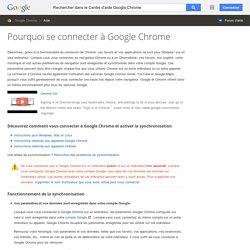 Synchronisation des paramètres sur plusieurs ordinateurs : Paramètres généraux du navigateur - Centre d'aide Google Chrome