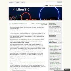 Pourquoi n'y a t-il pas de consensus sur une licence Open Data en France ? «