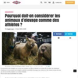 Pourquoi doit-on considérer les animaux d'élevage comme des athlètes?