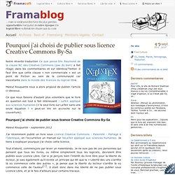 Pourquoi j'ai choisi de publier sous licence Creative Commons By-Sa