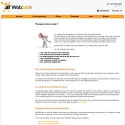 Pourquoi créer un site ?