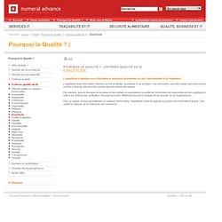 Outils - Pourquoi la Qualité ? - Critères qualité du SI - Exactitude
