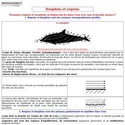 """Pourquoi requins et dauphins se déplacent-ils dans l'eau avec aisance?> <META http-equiv=Content-Type content=""""text/html; charset=iso-8859-1""""> <META content=""""Manuel Gonzalès"""" name=Author> <META http-equiv=""""Reply-to"""" content=""""manuel.gonzales(arobase)free.f"""