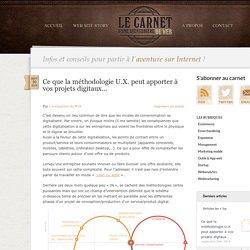 Pourquoi faire appel à des designers U.X pour vos projets digitaux ?, Le Carnet d'une aventurière du Web