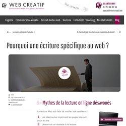 Pourquoi une écriture spécifique au web ?