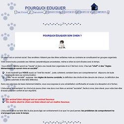POURQUOI EDUQUER