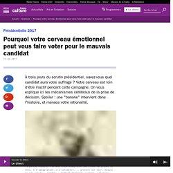 Pourquoi votre cerveau émotionnel peut vous faire voter pour le mauvais candidat