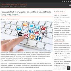 Pourquoi faut-il envisager sa stratégie Social Media sur le long terme ?