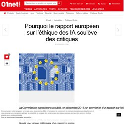 Pourquoi le rapport européen sur l'éthique des IA soulève des critiques