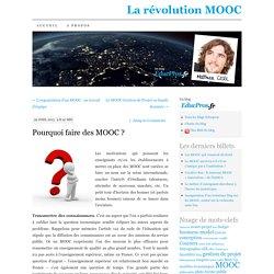 Pourquoi faire des MOOC ?