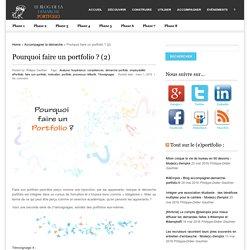 Pourquoi faire un portfolio ? (2)