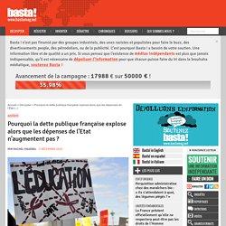 Pourquoi la dette publique française explose alors que les dépenses de l'Etat n'augmentent pas