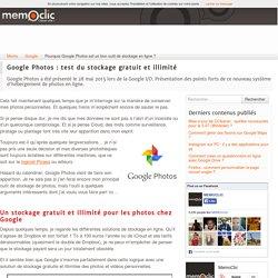 Pourquoi Google Photos est un bon outil de stockage en ligne ?