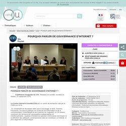 Pourquoi parler de gouvernance d'internet ? - Site Pouchet du CNRS