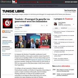 Tunisie: Pourquoi la gauche va gouverner avec les islamistes